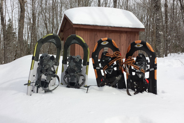 Snowshoes After Checking Lines