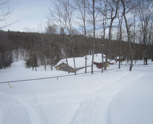 Maple Sugar Camp Buried In Snow